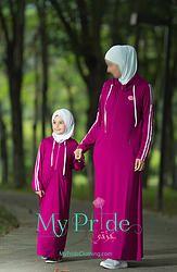 """My Pride"" Mommy & Me Dark Pink Sporty Hijab"