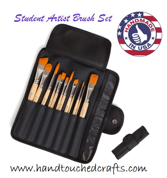 If you have been thinking about buying a new set of paintbrushes you might like to read one of our customer reviews for the Student Artist Brush Set -http://www.amazon.com/review/R25VU1YP19RP5D/ref=cm_cr_rdp_perm?ie=UTF8&ASIN=B00I32YP4E