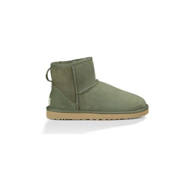UGG Classic Mini Women's Forest Night Boots ($135) ❤ liked on Polyvore featuring shoes, boots, uggs, women - boots, women's boots, ugg australia boots, ugg australia, sheepskin boots, mini boots and miniature shoes