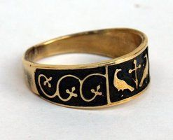 FLEUR AND BIRDS RING
