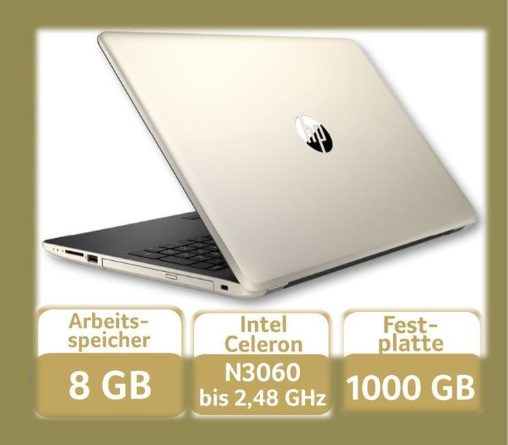 HP Notebook 15-BS501NG Gold Windows 10, 8GB,