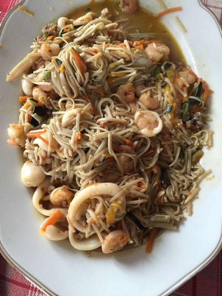 Alghe wakame noodles