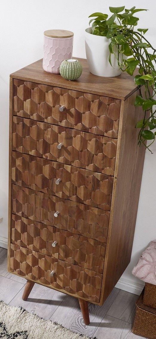 Vintage-Kommode aus Akazienholz - Möbel - Serie • MOSAYK
