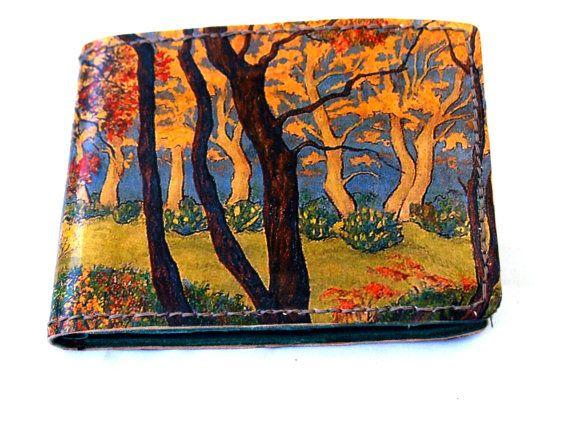 Printed leather wallet with Gustav Klimpt print by JasperandHide