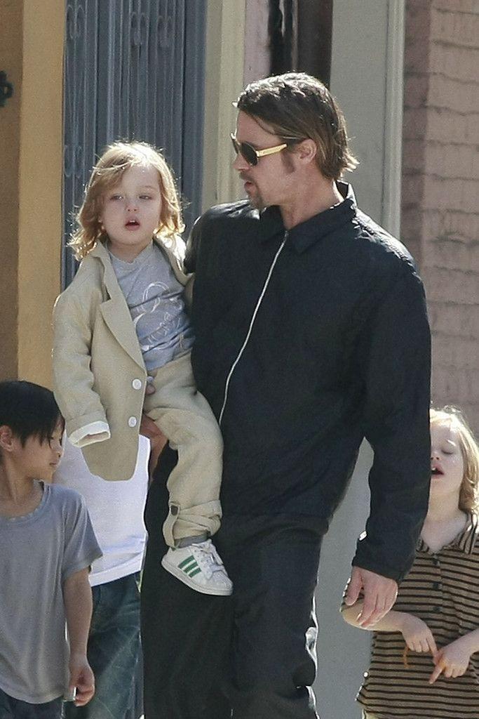 Brad Pitt Shiloh Jolie-Pitt Photos: Brad and Angelina Show Off the Kids in NOLA