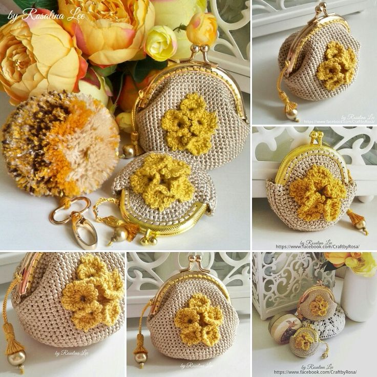 Crochet coin purse by Rosalina Lee