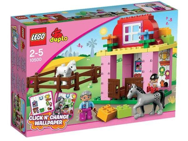 GRAJD PENTRU CAI LEGO DUPLO (10500) Ajuta la ingrijirea calului si manzului in grajdul pentru cai LEGO® DUPLO® cu usi ce se deschid, fereastra si tapet detasabil !