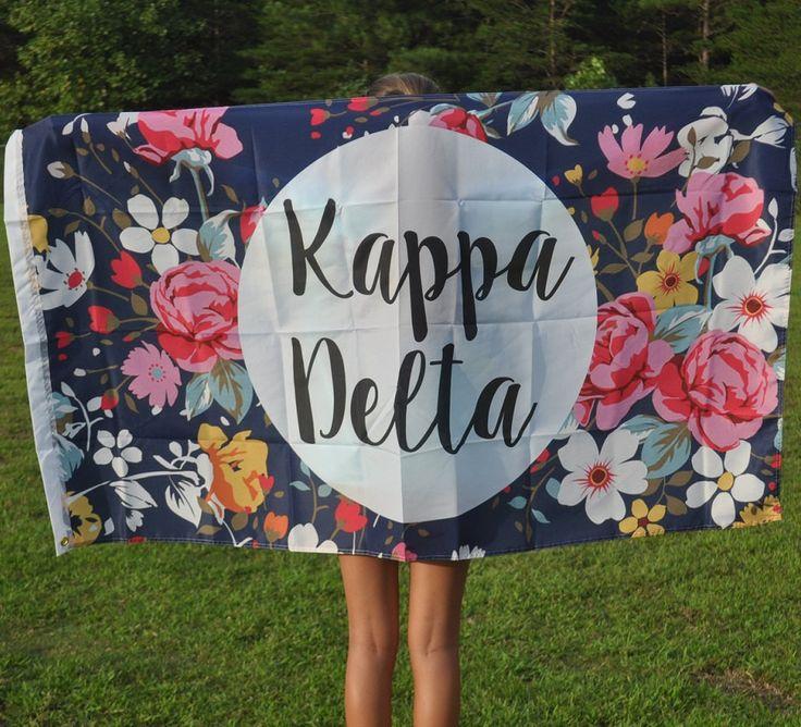 Kappa Delta Floral Flag by NowGreek on Etsy