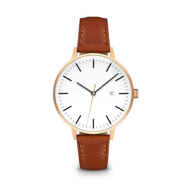 """The Minimalist"" watch by LINJER features a lacquered varnish dial and refined detailing."