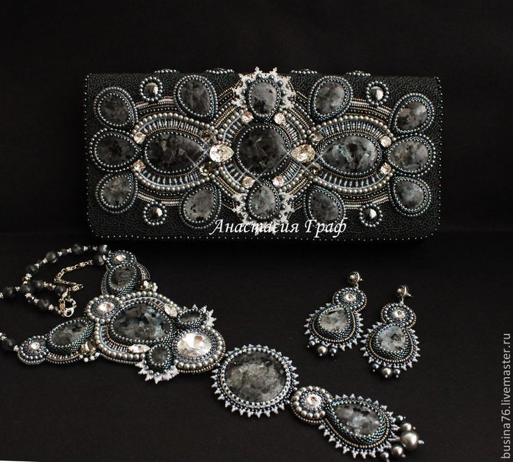 Купить Клатч Звезды зимней ночи (лабрадорит, Сваровски, новогодний) - серебряный, абстрактный, Вечерний клатч