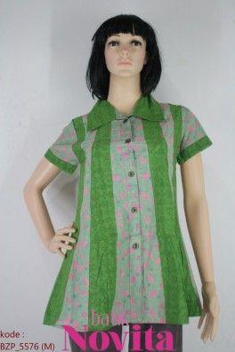 <p>Bahan katun<br />Detail jahit kombinasi embos dan batik<br /><br />Size : M<br />Lingkar dada: 82 cm<br />Lingkar pinggang: 100 cm<br />Panjang baju : 77 cm<br />Panjang lengan : 16 cm</p>