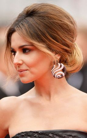 Cheryl Cole in a Retro Round Volume Updo #Hairstyle during #Cannes2014