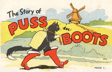 ユーモアあふれる長靴をはいた猫のイラスト