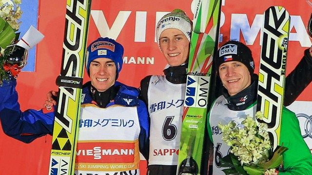 Stefan Kraft, Peter Prevc, Roman Koudelka - FIS