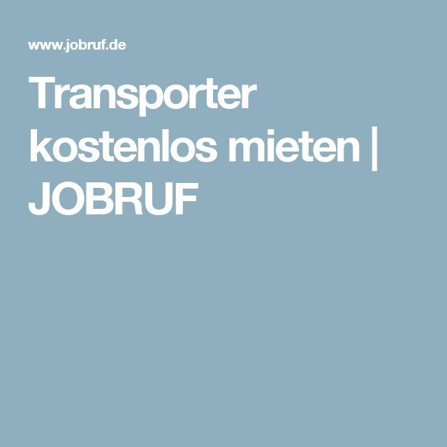 Transporter kostenlos mieten | JOBRUF
