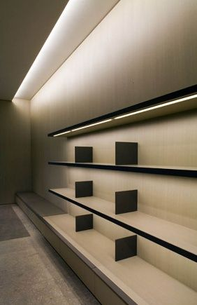 bookshelf lighting ideas. vincent van duysen bookshelf lighting ideas
