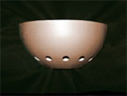 Quarter Sphere Wall Bracket Small: 225mm Diam x 125mm High Large: 405mm Diam x 210mm High Holes are optional Any Colour
