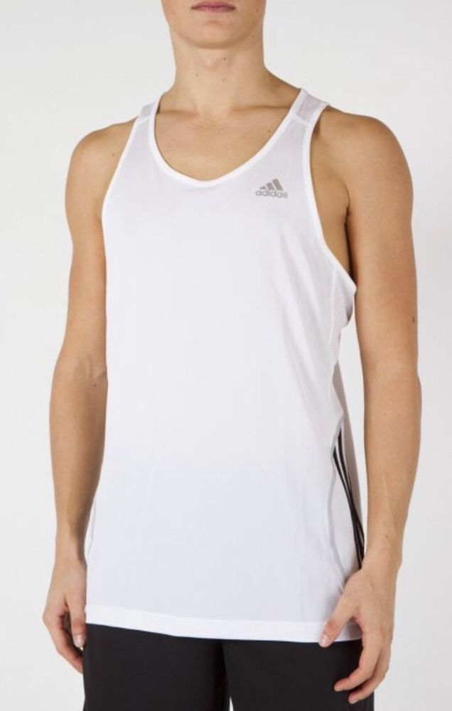 adidas Performance Singlet Sleeveless Running Vest White