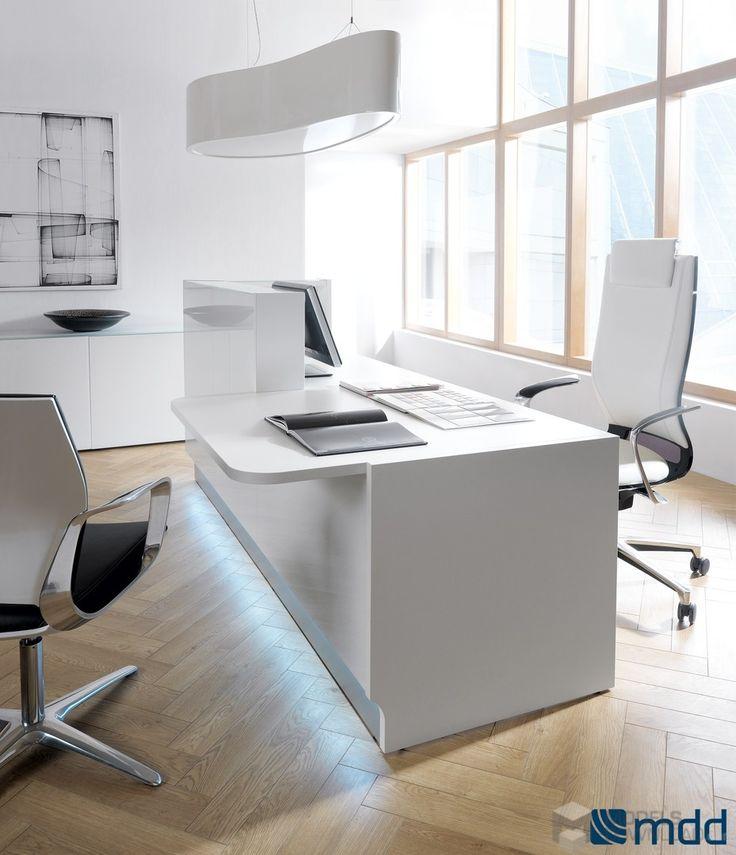 Pokój biurowy, minimalistyczny styl od MDD