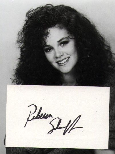 Rebecca Schaeffer, actress, killed in 1989 at 21 years old by a man who had been stalking her for 3 years.  So sad.