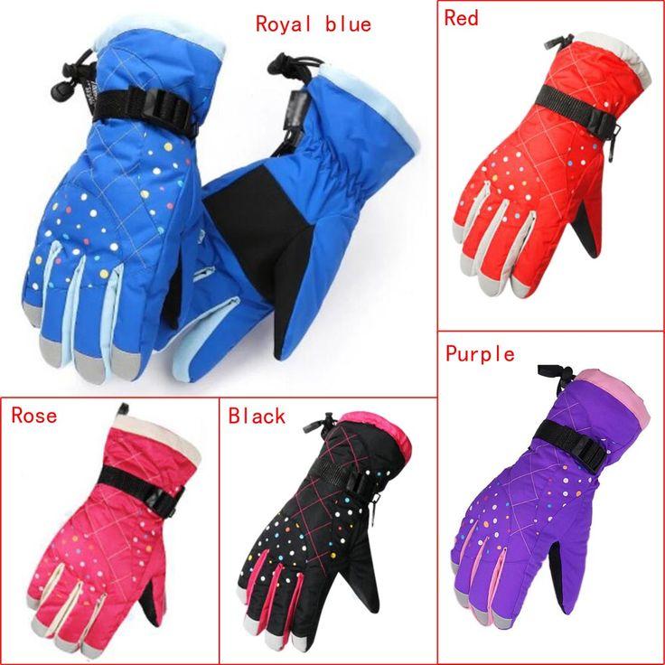 Winter Waterproof windproof Gloves Snow Gloves Ski Motorcycle Cycling kids Warm Full Finger Ski Gloves Women #Affiliate