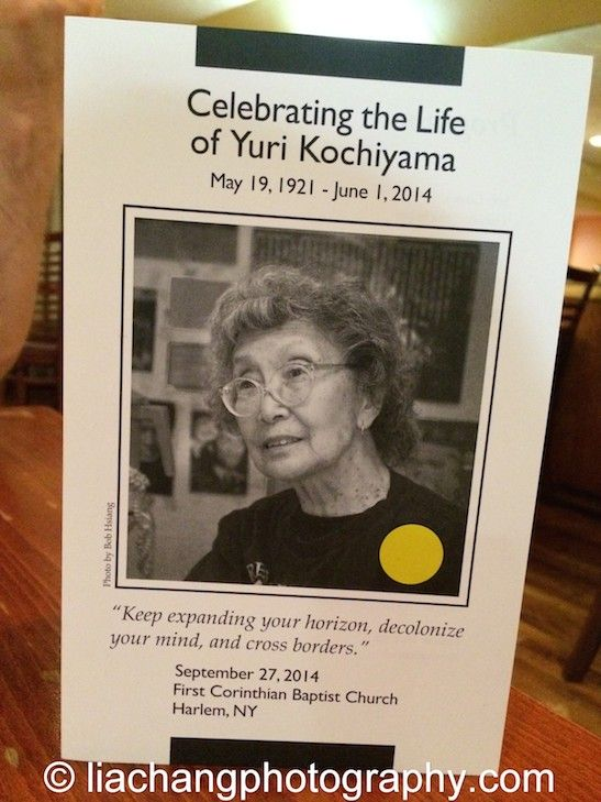 A Program from Yuri Kochiyama's memorial in New York on September 27, 2014. Photo by Lia Chang