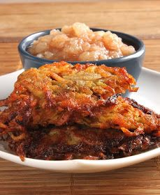 In Erika's Kitchen: Rainbow latkes with Idaho potatoes and pear-applesauce