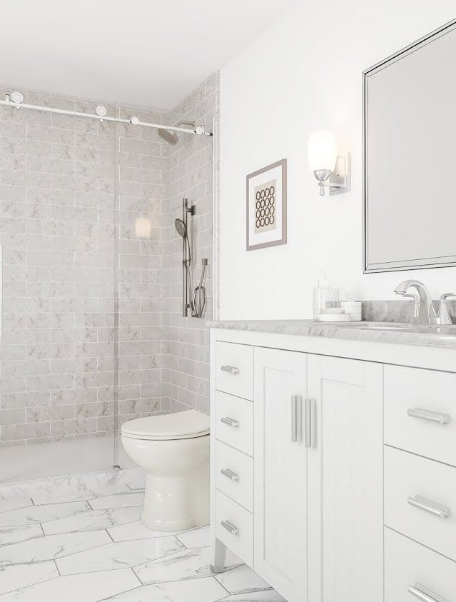 Glamorous White Bathroom Bathroom Ideas White Walls Bathroom Redesign Small Bathroom Remodel