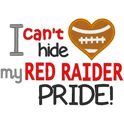 Red Raider Pride Applique - 3 Sizes! | Sport Teams | Machine Embroidery Designs | SWAKembroidery.com Band to Bow