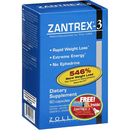 Zantrex-3 Dietary Rapid Weight Loss Supplement - 60ct ** You can find more details by visiting the image link.