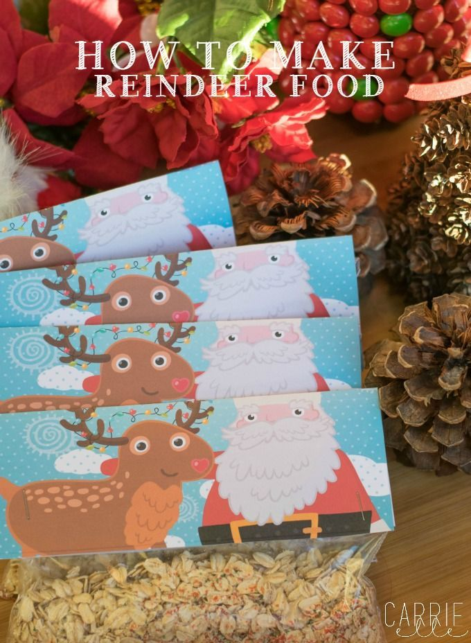 How to Make Reindeer Food (printable bag topped and poem included!)
