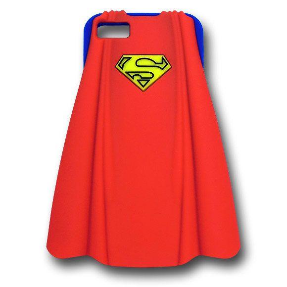 Coque iPhone 5 Superman en silicone bleu et cape rouge - 17,99 € - #Logostore