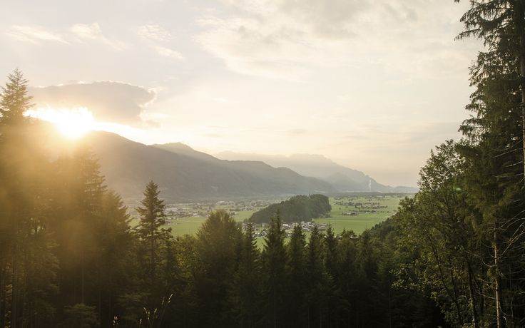Views like these.. Salzach valley at Sunset with Salzburg all the way in the back