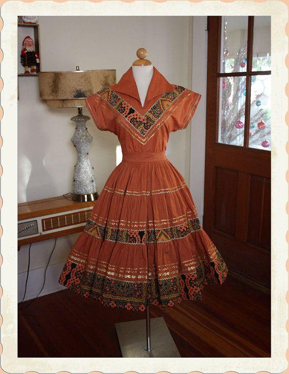 1950s Western Patio Dress. Iu0027d Wear This Everydayeveryday