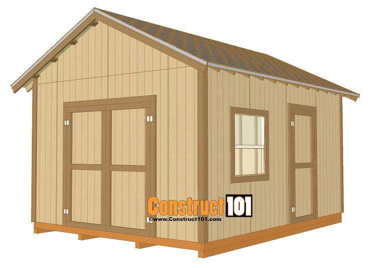 12x16 shed plans gable design storage backyard and for Gable storage shed plans