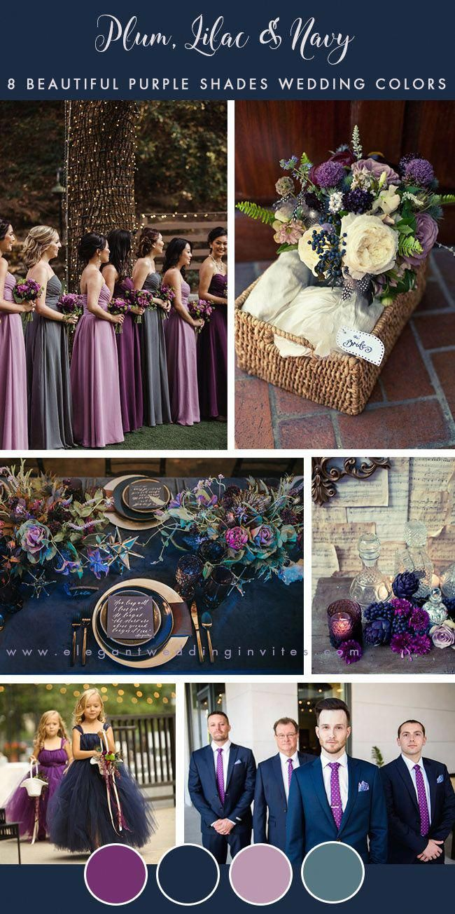 Plum Lilac And Navy Blue Fall Wedding Colors Weddingcolors