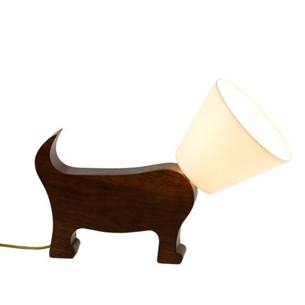 'cone of shame' lamp. hee.: Chandeliers Lighting, Dog Lovers, Cone Lamp, Dog Shade