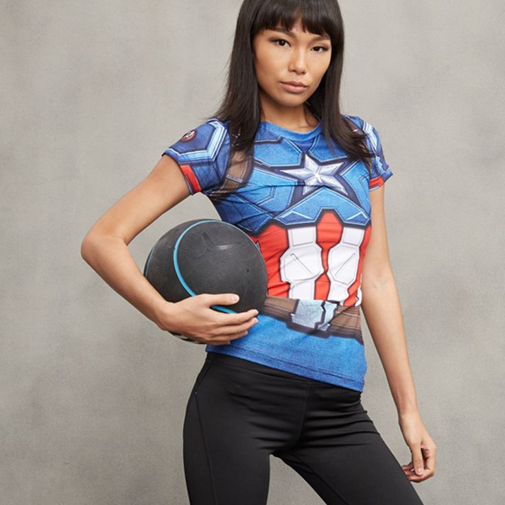 High compression t-shirt, made of high quality materials Treat yourself, or make this shirt the perfect gift on birthdays, anniversaries, retirement, or for no reason at all. Shop now onhttps://worldofheroez.com/product/captain-america-women-t-shirt/