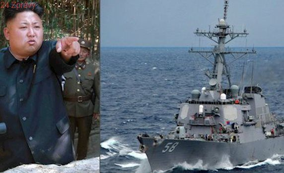 Kim hrozí jaderným útokem. Naštvaly ho lodě USA směřující k břehům KLDR