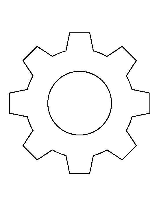 Gear Pattern Use The Printable Outline For Crafts Creating Stencils