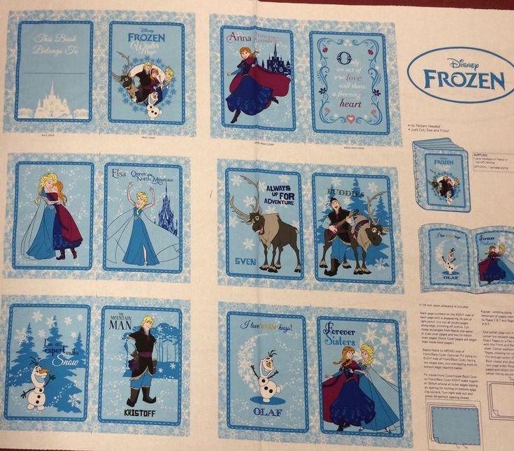 Disney- Frozen - Book / Quilt Panel - 'Anna's Friends' 100% Cotton | Crafts, Fabric | eBay!