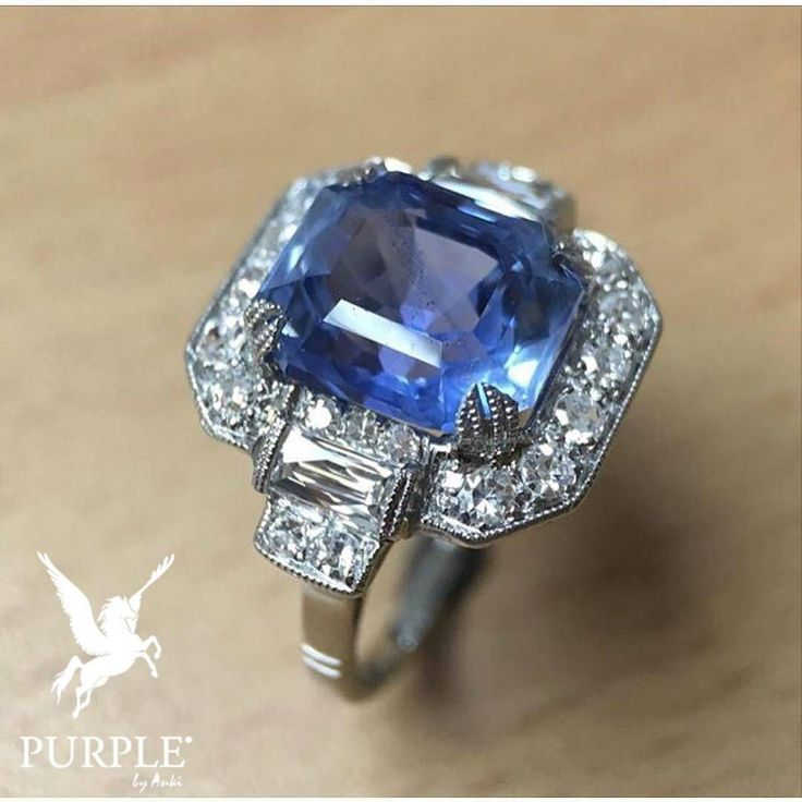 #Repost @plattboutiquejewelry A perfect jewelry that fits your lifestyle this Art Deco Sapphire & Diamond ring