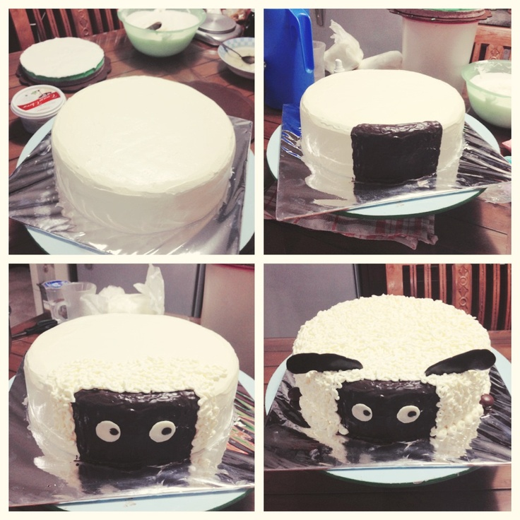 Shaun the sheep birthday cake by sweetspatula
