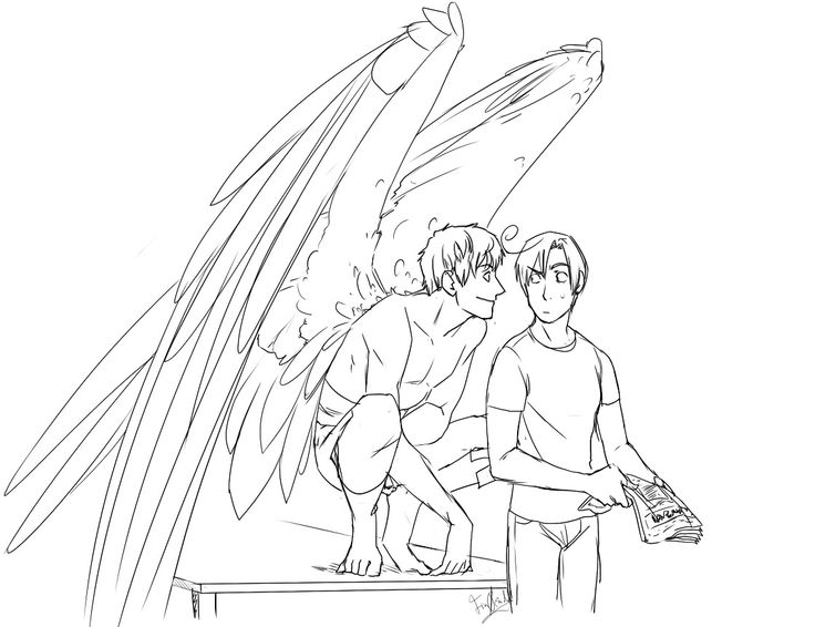 """Spamano- Lovino's like """"Okay, there is a shirtless winged man on my kitchen table... aaand he's staring at me."""""""