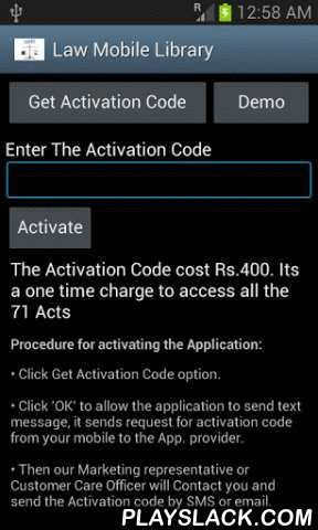 Indian Law Mobile Library  Android App - playslack.com , Indian Law Mobile Library application is created by Madras High Court Advocates to access certain Indian Bare Acts in mobile phone. This app contains about 71 important Central Acts (as amended upto 2013 amendments) which can be referred in seconds without any network connection. It will be a ready reference to Judges, Advocates, and law college students. The app is well designed in a user friendly manner; even a common man can access…