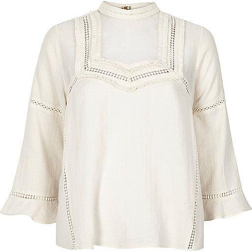 Crème vintage blouse