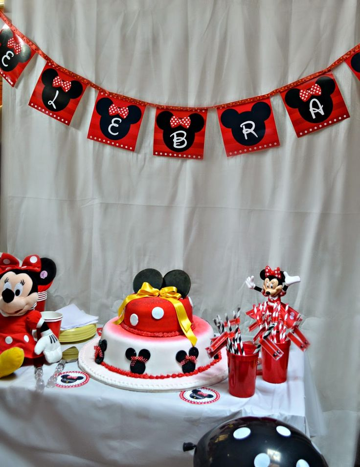 Birthday party Minnie Mouse Roja