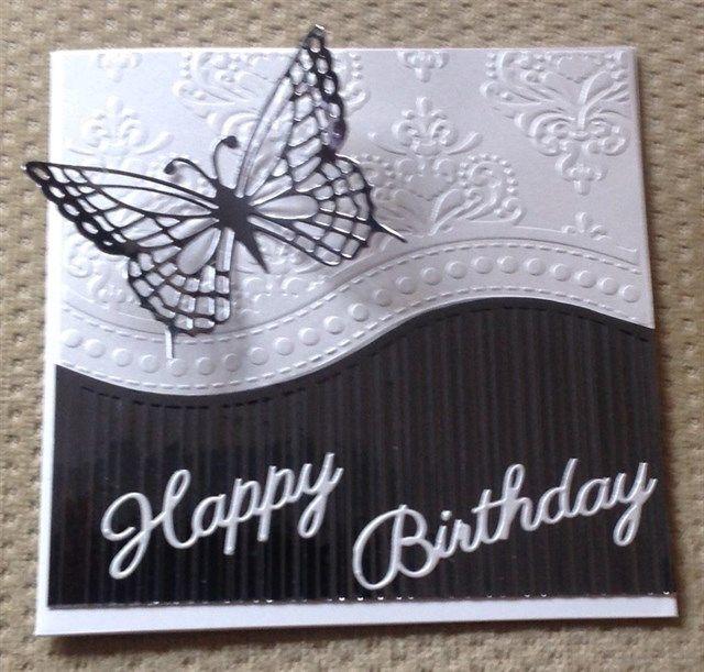 Monochrome birthday cards   docrafts.com