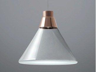 Lámpara colgante LED de Pyrex® POLAIR - Fabbian