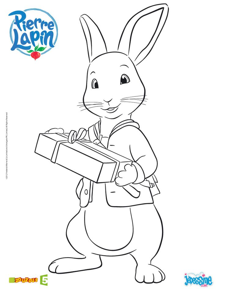 Coloriage pierre lapin imprimer coloriages pinterest - Coloriages lapin ...